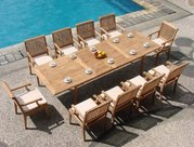 outdoor teak patio dining tables and chairs