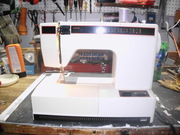 Montgomery wards sewing machine with foot control sews most stiches,